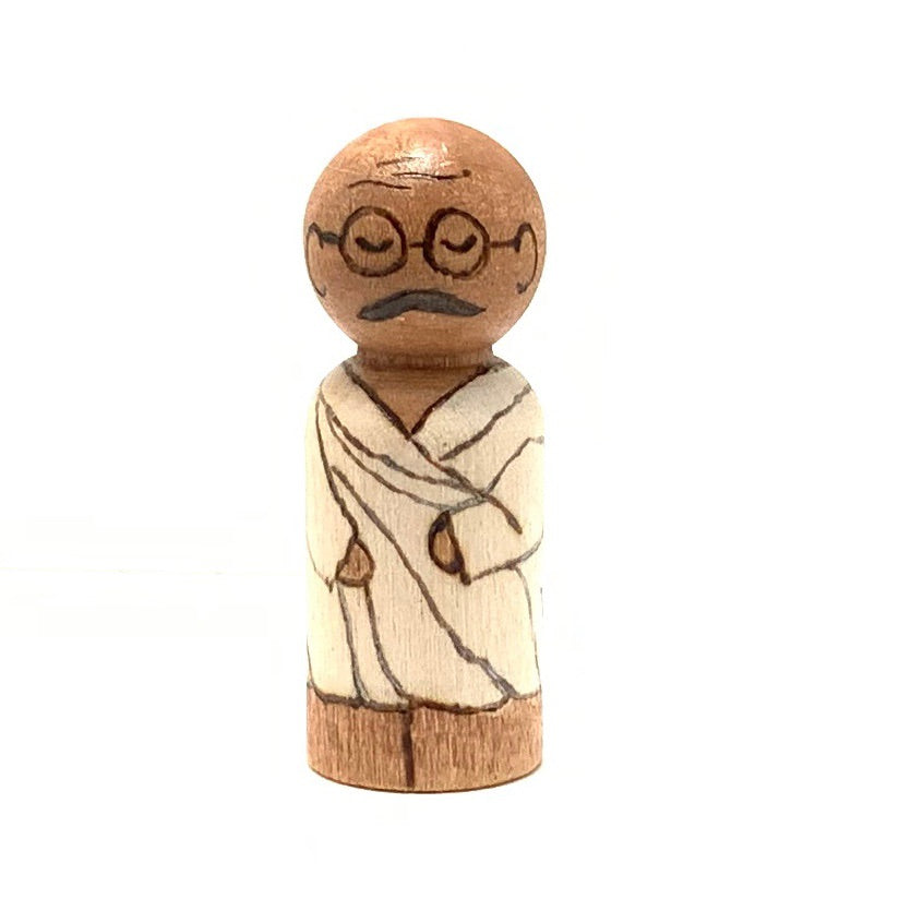 Gandhi Mighty Man Peg Doll