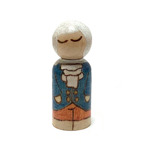 Isaac Newton Mighty Man Peg Doll