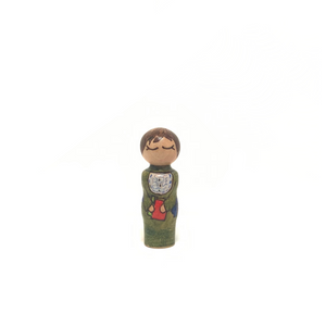 Anne Sullivan Strong Woman Peg Doll