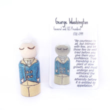 Load image into Gallery viewer, George Washington Mighty Man Peg Doll