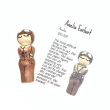 Load image into Gallery viewer, Amelia Earhart Strong Woman Peg Doll