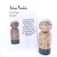 Load image into Gallery viewer, Nelson Mandela Mighty Man Peg Doll