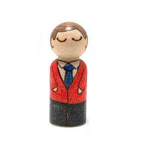 Mr. Rogers Mighty Man Peg Doll