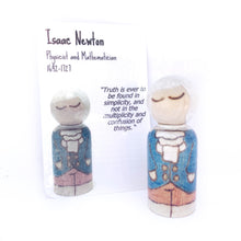 Load image into Gallery viewer, Isaac Newton Mighty Man Peg Doll