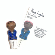 Load image into Gallery viewer, Maya Angelou Strong Woman Peg Doll