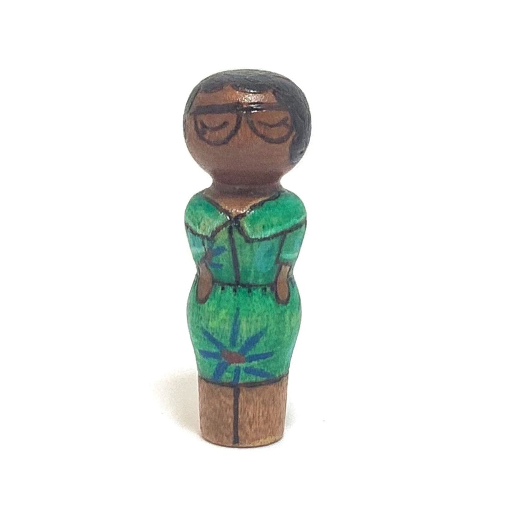 Katherine Johnson Strong Woman Peg Doll