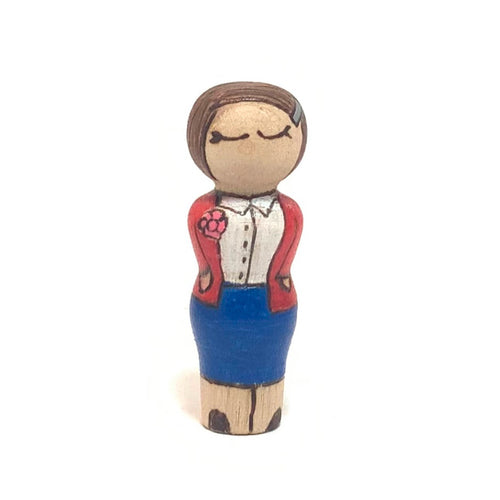 Sophie Scholl Strong Woman Peg Doll