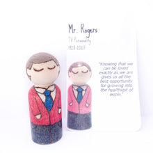 Load image into Gallery viewer, Mr. Rogers Mighty Man Peg Doll