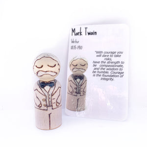 Mark Twain Mighty Man Peg Doll