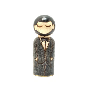 Abraham Lincoln Mighty Man Peg Doll