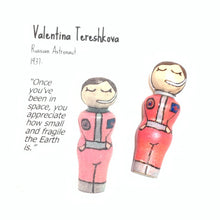 Load image into Gallery viewer, Valentina Tereshkova Strong Woman Peg Doll