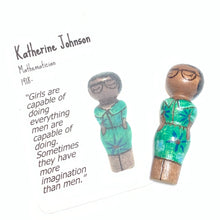 Load image into Gallery viewer, Katherine Johnson Strong Woman Peg Doll