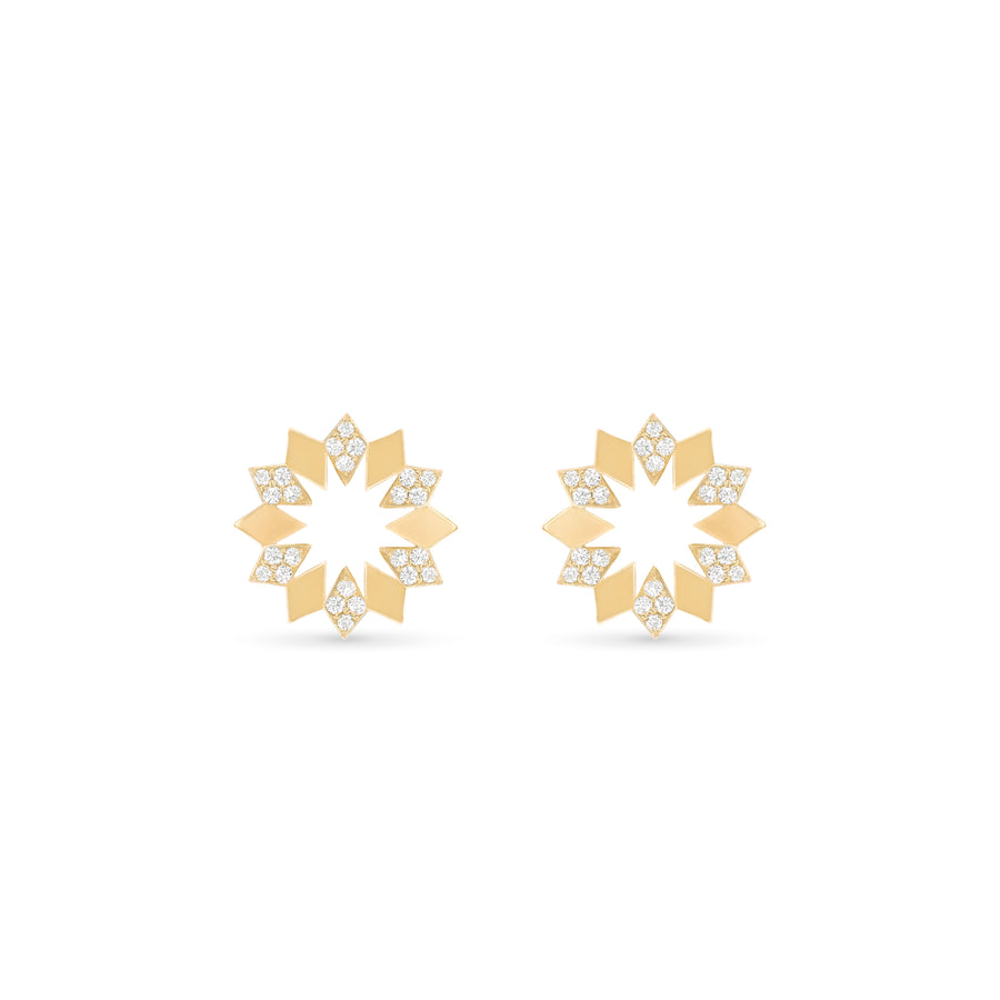 Dahlia Mini Diamond Earrings