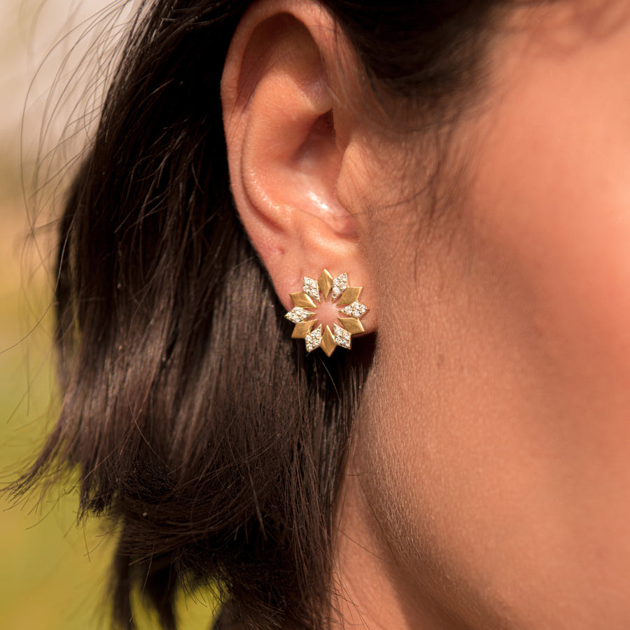 Dahlia Diamond Earrings