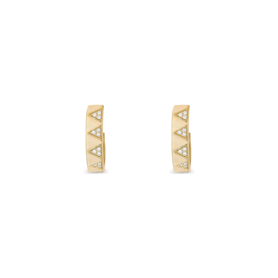 Layla Criss Cross Diamond Hoops