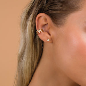 Yara Triple Hoop Ear Cuff
