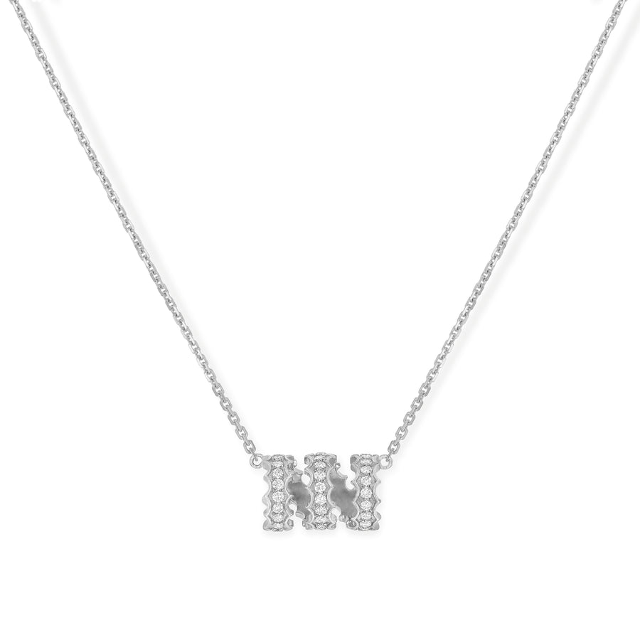 Zora Twist Diamond Necklace