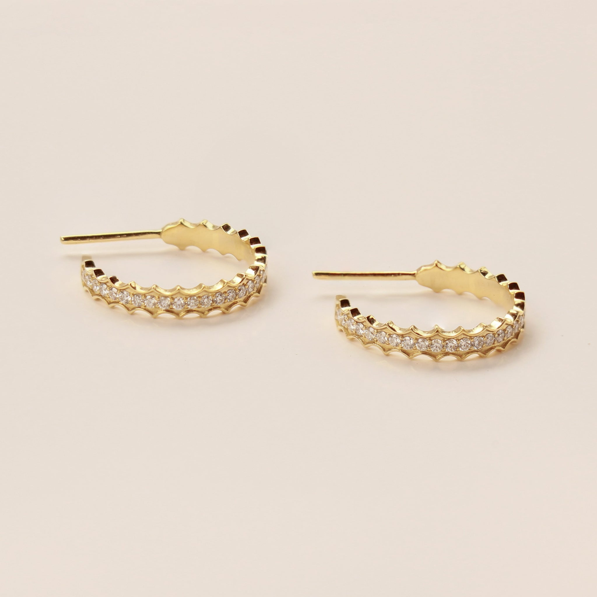 Zora Diamond Hoops