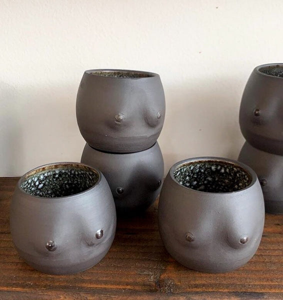 Ceramic Boobs Cup or Planter