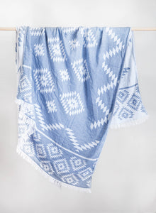 Turkish Cotton Tribe Throw Blanket
