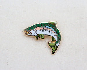 Rainbow Trout Enamel Pin