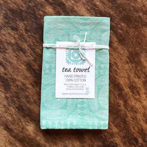 Block Printed Cotton Tea Towel