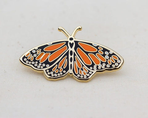 Monarch Butterfly Enamel Pin For Charity