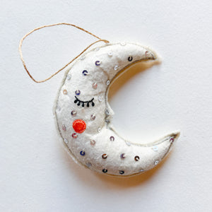 Sleepy Moon Ornament