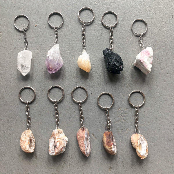 Crystal Gemstone Keychain