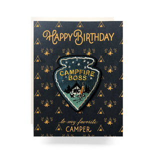 Patch Greeting Card | Campfire Boss Birthday