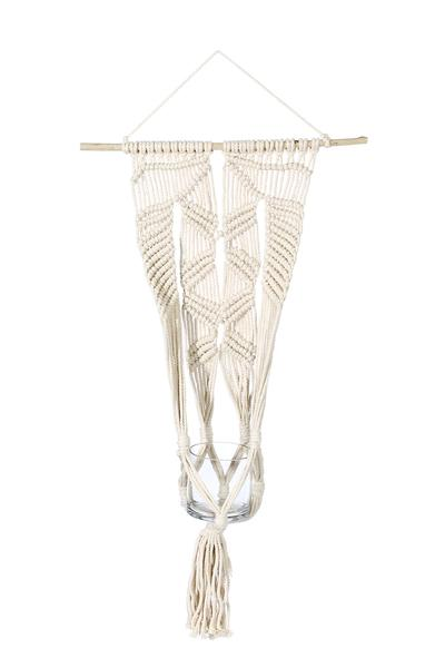 "Macrame Wall Plant Hanger - 32"" long"