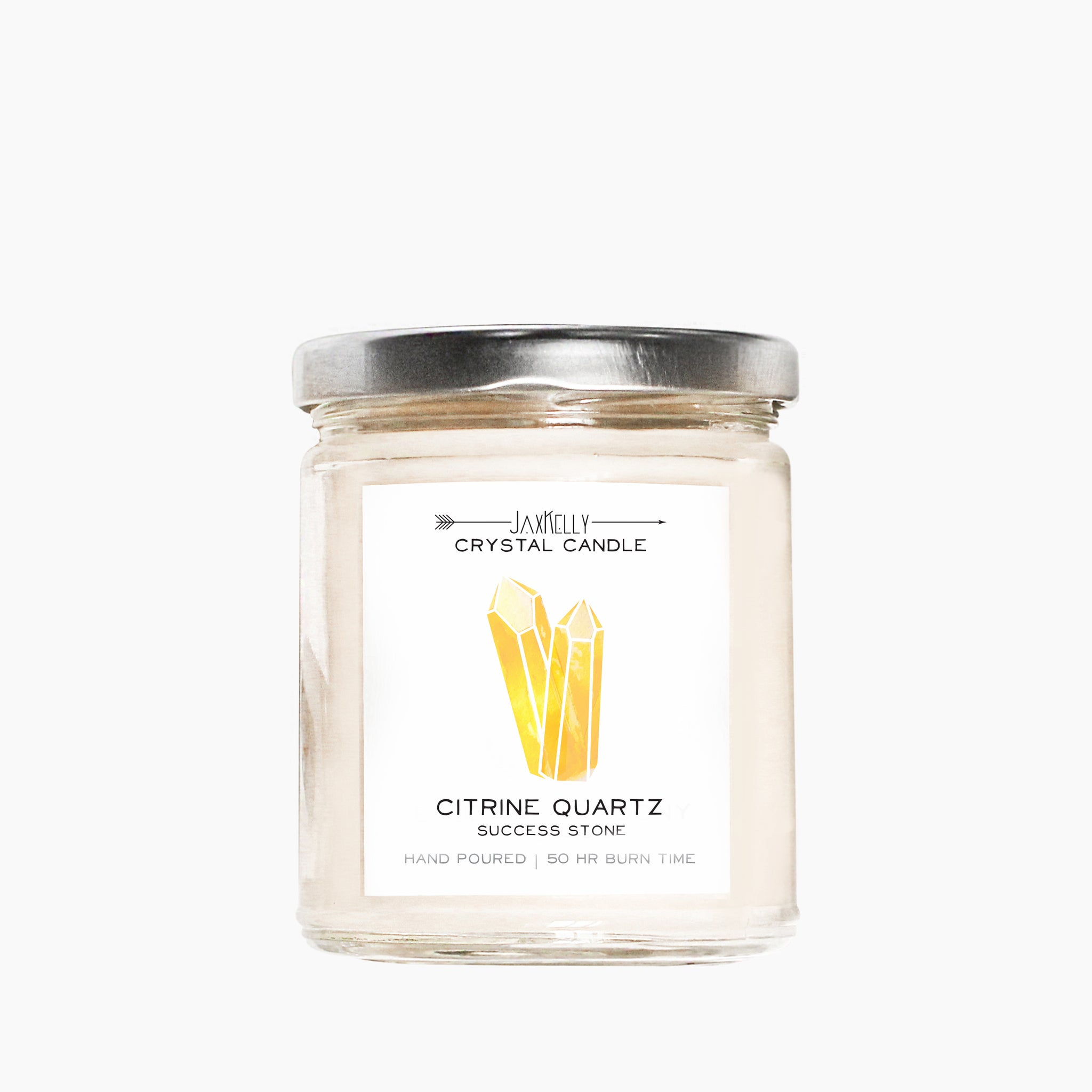 JaxKelly - Citrine Crystal Candle - Success | 9 oz