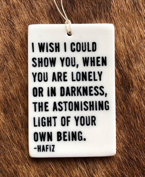 Porcelain Quote Ornament