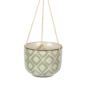 Small Geo Ceramic Hanging Planters