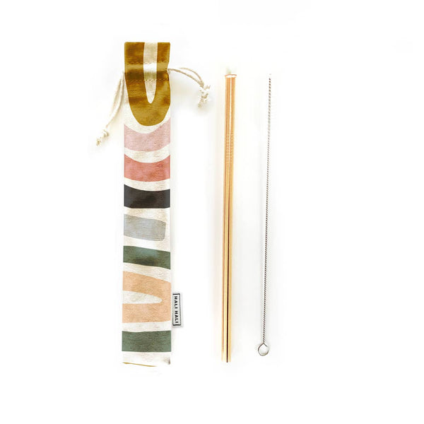 Reusable Straw Set with Pouch and Brush