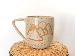 White Ceramic Mountain Mug