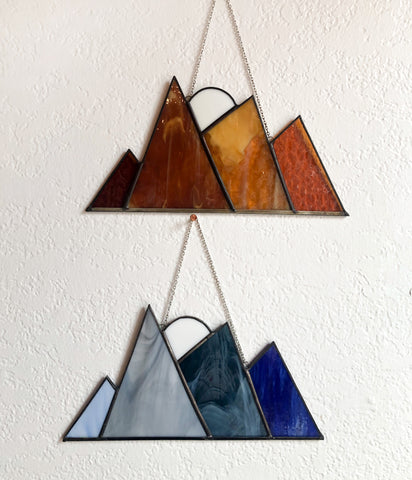 Large Stained Glass Mountains