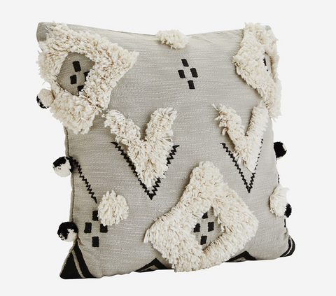 Moroccan Style Pillow Cover with Pompoms