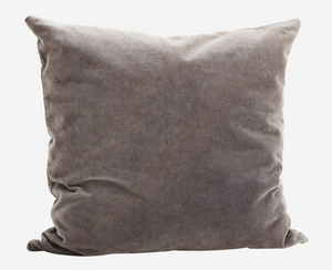 Grey Velvet Pillow Cover