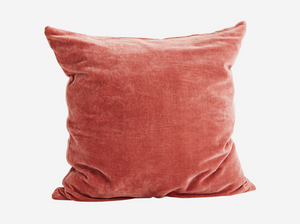 Dusty Rose Terra Cotta Velvet Pillow Cover