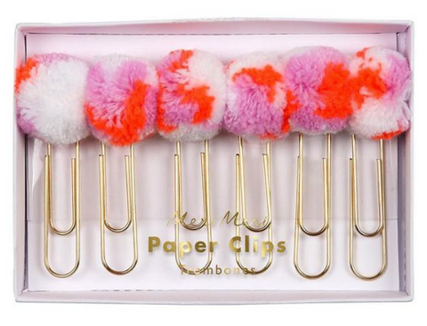 Pom Pom and Tassel Paper Clips