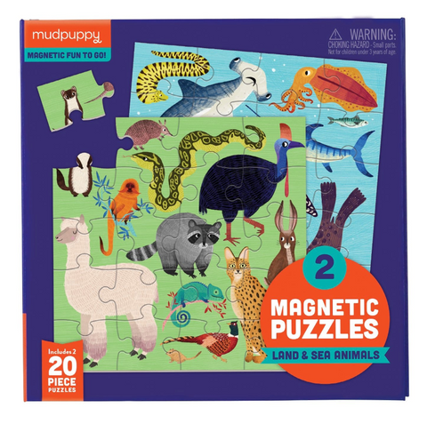 Magnetic Land & Sea Animal Puzzles