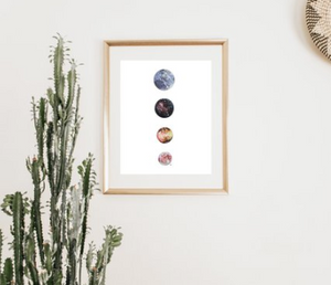 Moon Art Prints by GL Rouse