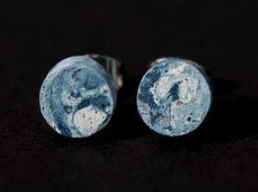 Circle Concrete Stud Earrings