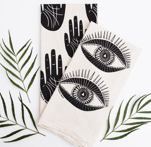 Eye and Hand Tea Towels - Native Bear