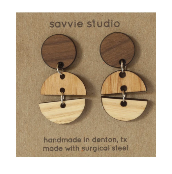 Wooden Dangle Earrings