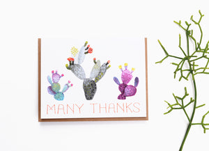 Cacti Thanks Card