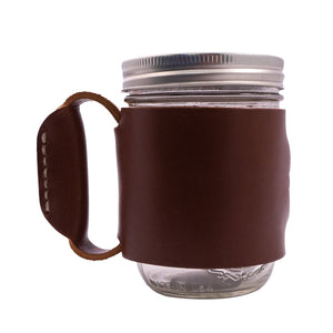 Miner Mug - Leather Wrapped Jar