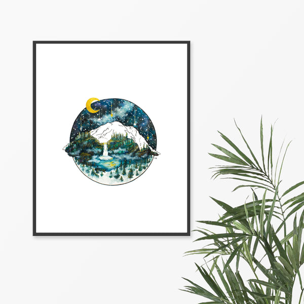 Moon Art Prints by Grace Rouse Art