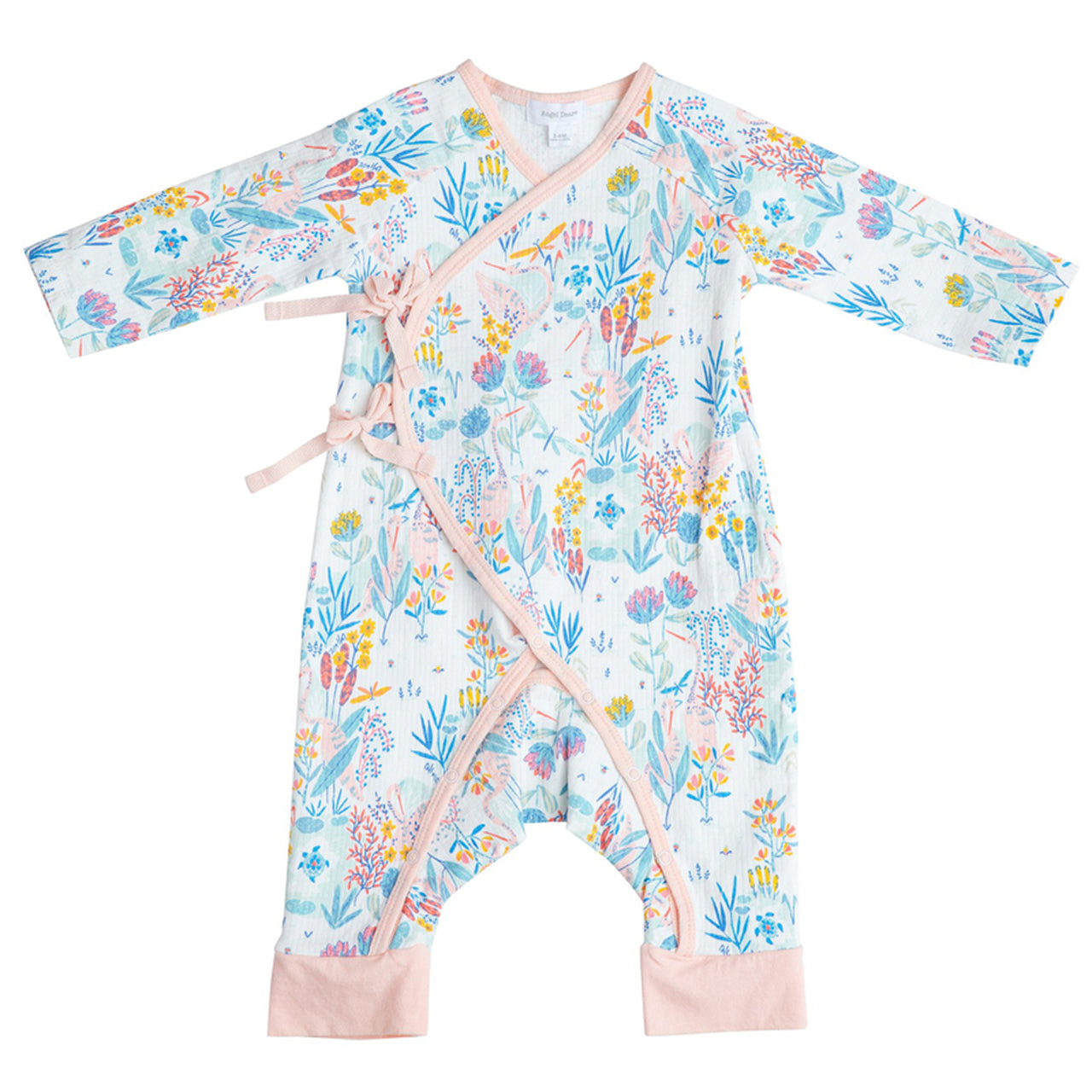 Wrap Coverall with Crane Print